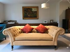 Contemporary Chesterfield sofa (Sofa & Chair Company) in Beeswax/Gold
