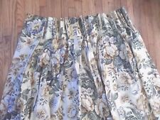 "French Country Pleated Curtain Pair Floral  29"" x 82"" Beautiful Custom"