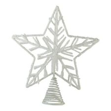 30cm Large Christmas Tree Star Shaped Topper Decoration White