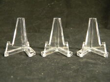 Lot 3 Small Acrylic Easel Display Stands For Artifacts - Collectibles - Fossils