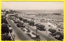 cpsm 33 ARCACHON (Gironde) La PLAGE et JETÉE THIERS Automobiles Tentes de Plage