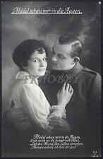 AK Postcard 1917 Army Soldiers Romance Armee Soldaten Woman Feldpost WWI (13)