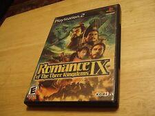 ROMANCE IX OF THE THREE KINGDOMS 3 PLAYSTATION 2 (PS2) COMPLETE CIB (RARE) NICE!