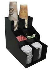 Coffee cup dispenser condiment caddy and lid holder stirrer counter organizer