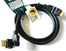 VIVANCO 42911 Cable HDMI tetes rotatives 360° 2x180° ETHERNET FULL HDTV  2M