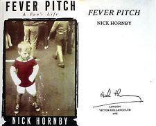 Nick Hornby ~ Fever Pitch ~ SIGNED ~ True UK 1st/1st HC