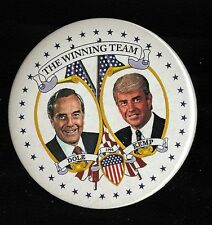 1996 Bob Dole & Jack Kemp The Winning Team Campaign button (R)