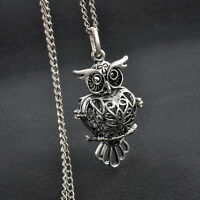 Steampunk Owl Pendant Silver Long Chain Charming Women Necklace Fashion Jewelry