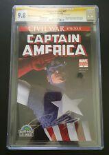 Captain America#25 Wizard World 2007 Con Edition(Apr 07, Marvel) -CGC 9.8 Signed