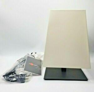 "Contardi Quadra TA Table Lamp in Satin Bronze Finish w/White Shade Bronzo 12.5"""