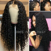 Silk Top Full Lace Wig Deep Curly Peruvian Virgin Human Hair Wigs Pre Plucked vy