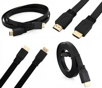 Flat HDMI 1.5M Cable High Speed Gold Lead With Ethernet v1.4 1080P Full HD 4K 3D