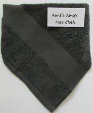 "Ralph Lauren~Wescott ""Grey"" (Dark Gray) Individual Face/Wash Cloth 100% Cotton"