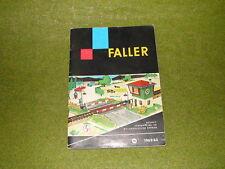Faller  - Faller Katalog von 1962/63