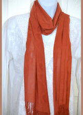 Net Stretchable soft touch Dusty Orange Scarf, Stole, Wrap