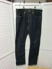 GAP 1969 Dark Wash Button Fly Selvedge Denim Straight Leg Jeans Slim 31x30 MINT!