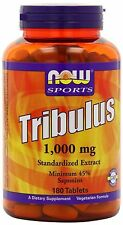 Tribulus 1 000mg 180 Tablets Now Foods