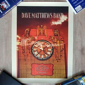 DAVE MATTHEWS BAND DMB Caravan Chicago Poster #/1050 7/10/2011 Concert Methane