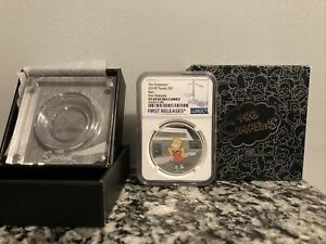 2019 THE SIMPSONS - BART SIMPSON - 1 OZ. SILVER COIN  NGC PF69 Ultra Cameo