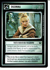 STAR TREK CCG FIRST CONTACT RARE CARD THETA-RADIATION POISONING
