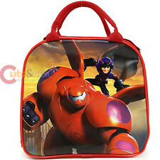 Disney Big Hero 6 School Lunch Bag Baymax Insulated Snack Bag with Bottle- Red