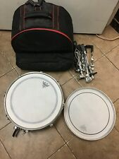 Remo Weather King Ambassador Batter Snare Drum Red with Stand and Case