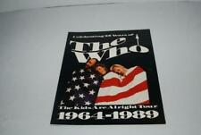 THE WHO 1989 KIDS ARE ALRIGHT Tour Concert Program Tour Book Pete Townsend