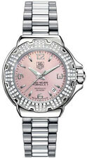WAC1216.BA0852 Tag Heuer Formula 1 Glamour Diamond Ladies Pink Pearl Steel Watch