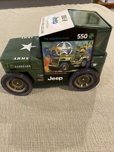 Eurographics Jeep Licensed Army Truck 550 pc Puzzle Tin 1941 Willys MB Poster