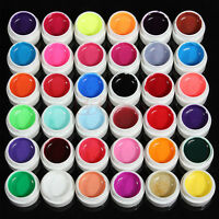 36pcs Mix Colors Pots Cover UV Nail Art Gel Tips Builder Manicure Decor Set Hot