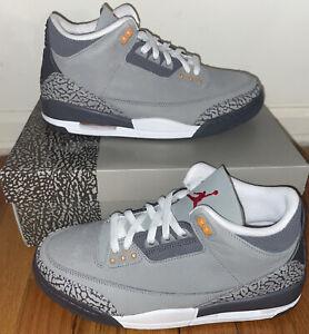 Air Jordan Retro 3 Cool Grey CT8532-012 Size 10 Brand New