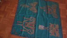 foulard vintage les Must de Cartier, 80 x 80 seta verde acqua