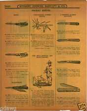 1915 PAPER AD Official Boy Scout Pocket Knife KNives Wadsworth Russel Barlow