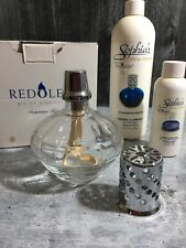 Catalytic Fragrance Lamp by Redolere Clear Cubed Complete with 2 Fragrances Euc
