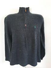 Polo Ralph Lauren Men's Dark Gray Charcoal Medium Sweater Cotton