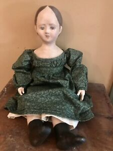 """REDUCED-Izannah Walker artist doll by Shari Lutz -20"""", antique doll reproduction"""