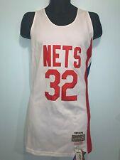 New York Nets 32 Julius Erving NBA Hardwood Classic Swingman Jersey Men White