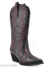 Reba Backstage Size 7 M Black Leather Cowboy Western Boots New Womens Shoes