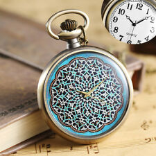 Vintage Colorful Painted Creative Geometry Design Pocket Watches Pendant Watch