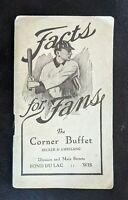 1911 Baseball Booklet Facts Fans Rules & Schedule Corner Buffet EX Original