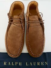 RALPH LAUREN Brown Suede High-Top Moccasins Ankle Boots Booties Shoes US-11.5D