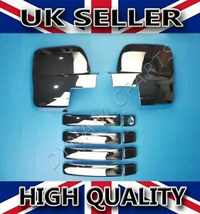 RENAULT TRAFIC CHROME WING MIRROR COVERS + 4 DOOR HANDLE COVERS 2015 ONWARDS