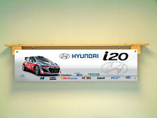 Hyundai i20 Rally Banner Workshop Garage Automotive WRC Motorsport