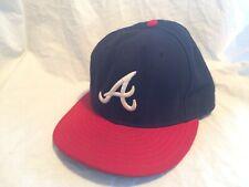 New Era MLB Baseball Atlanta Braves Autographed Signed Fitted Hat Cap 7 3/8