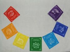 Nepalese Lotus 7 Chakra Colour Prayer Flags Fair Trade Hippy Decor