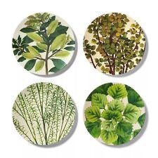 New listing John Derian for Target - 4pk Melamine Dinner Plate Set Leaf Print Green/White