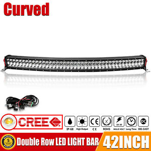 Curved 42 inch LED Light Bar Spot Flood Combo Driving Offroad Truck 4WD Truck 40