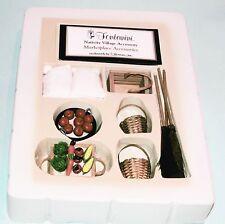 Fontanini Nativity Marketplace accessory set, boxed New, #51188, fruit baskets