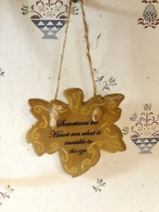 Ceramic Heart Wall Hanging Sometimes The Heart Sees What Is Invisible To The Eye