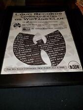 Wu-Tang Clan Rare Original Grammy Awards Promo Poster Ad Framed!